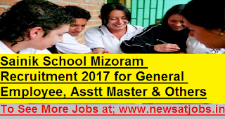 Sainik-School-Mizoram-General-Employee-Asstt-Master-Posts-recruitment