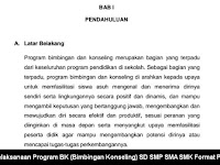 Pelaksanaan Program BK (Bimbingan Konseling) SD SMP SMA SMK Format PDF