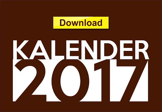 Free Download Calender Design 2017 Format CDR