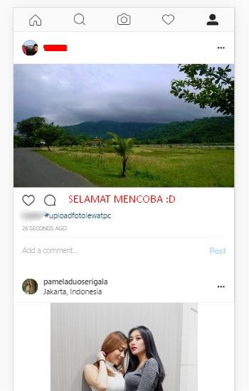 unggah foto ke instagram lewat pc