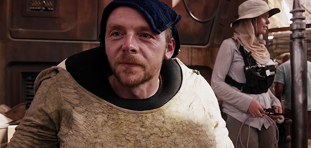 Simon Pegg pe platourile de filmare pentru Star Wars: The Force Awakens