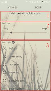 cara mengganti font samsung