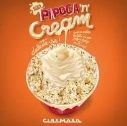 Novo Sabor Pipoca Cinemark 2019 Leite Condensado, Chocolate Branco e Leite Pó