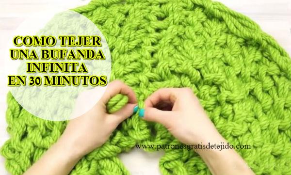 Clase gratis de tejido: bufanda infinita tejer con las manos