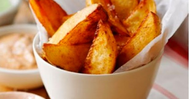 Slimming world: Home made paprika potato wedges with a ...