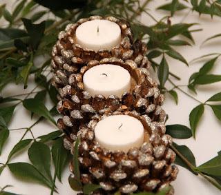 porta candela con pigne