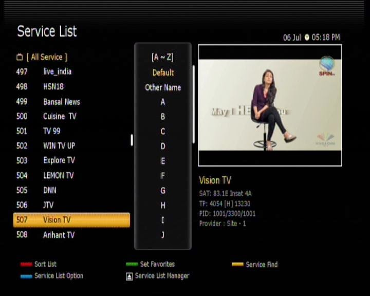 spin tv started on Insat4A@83 deg   BESTSATINFO