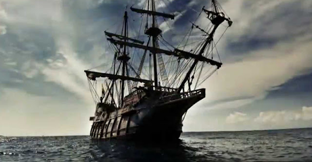 "The cacao was brought in by a galleon pilot.  Image credit:  thumbnail from the YouTube video ""El Galeón de Manila. La aventura de los tesoros de Oriente (Manila Galleon) HRM Ediciones"" by Arturo Sanchez."