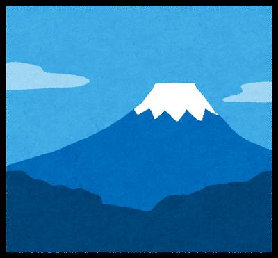 富士山のイラスト(四角)