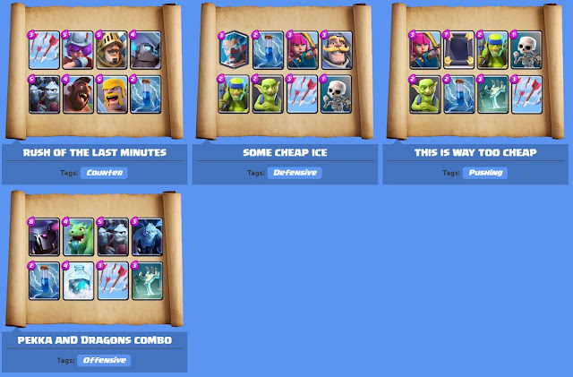 Clash Royale deck Arena 5