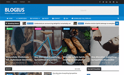 Blogius Blogger Templates Demo and Download Link