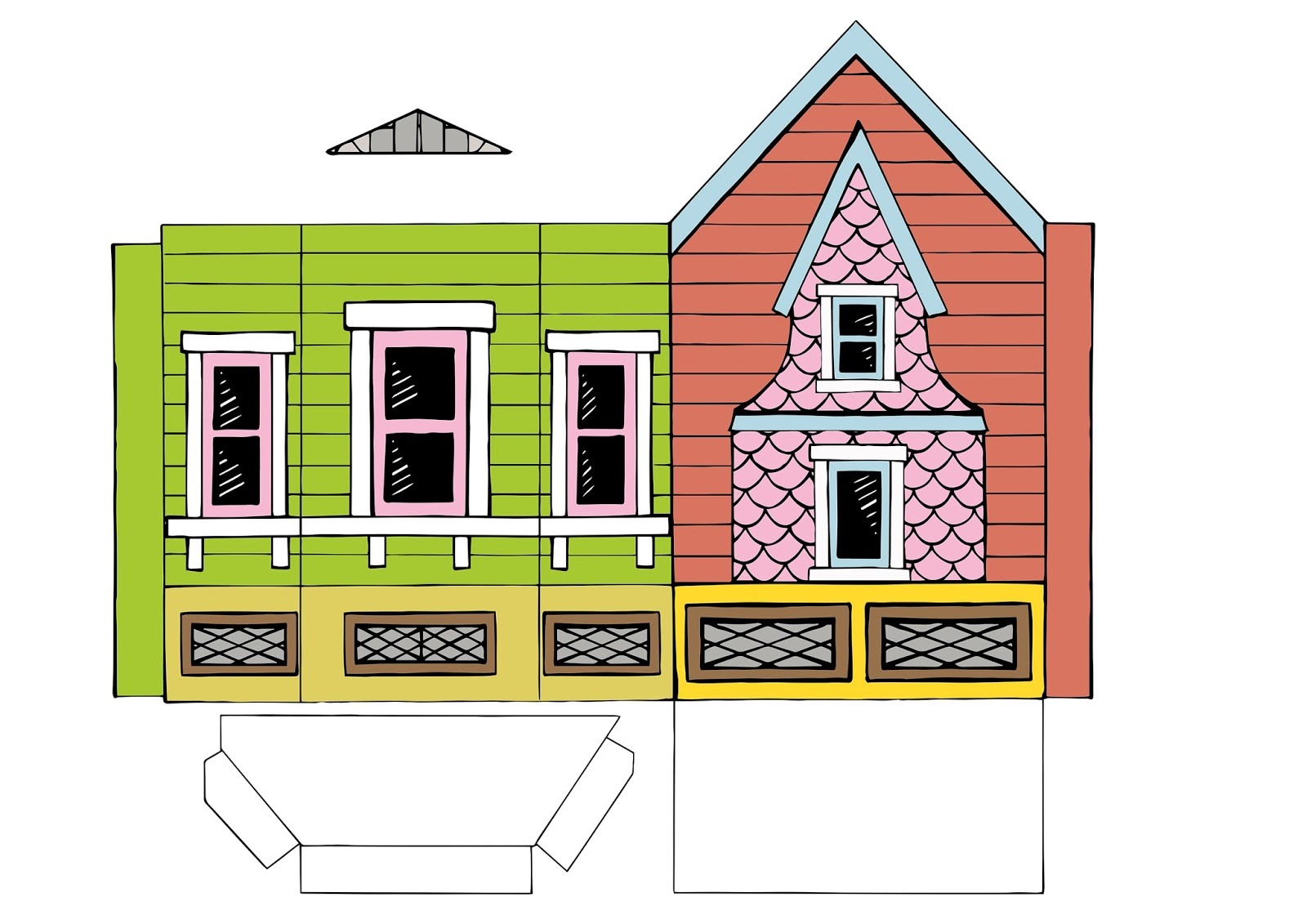 Peach Bum Up House Printable Template