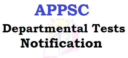 APPSC, Departmental Tests, May 2016 Session