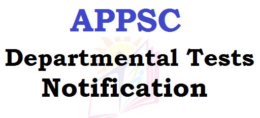 APPSC, Departmental Tests, November 2016 Session