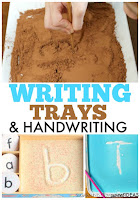 Use writing trays for handwriting