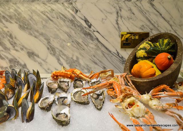seafood at Al Dawaar Revolving Restaurant