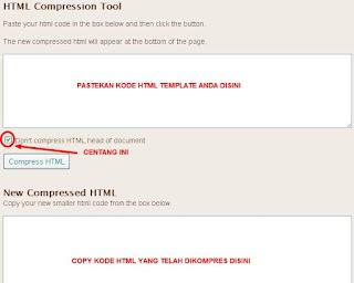 Cara Mengkompres Template blog supaya loadingnya ringan