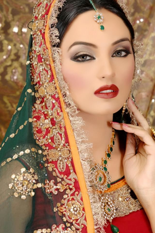 Indian Dulhan New Look Makeup Ideas 2014 For Girls Image -1365