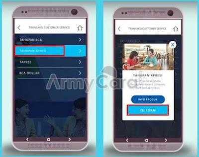 cara daftar rekening bca online di hp android