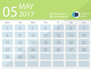 may 2017 timetable calendar