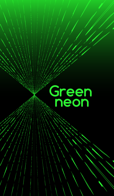 綠色霓虹燈主題