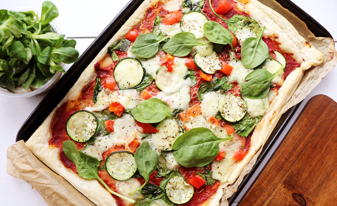 Puff Pastry Veggie Pizza recipe