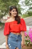 Rhea Chakraborty in Red Crop Top and Denim Shorts Spicy Pics ~  Exclusive 066.JPG