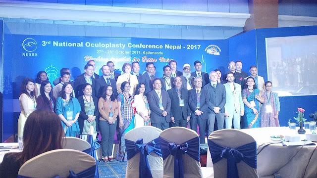 Oculoplasty surgeron of Nepal during their conference on National Oculoplasty Conference