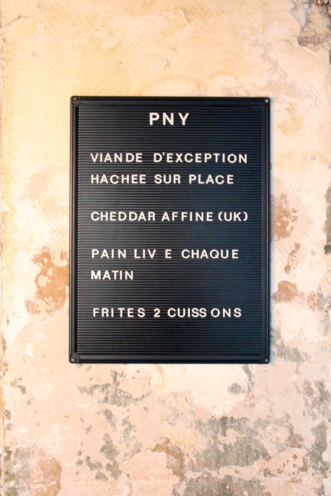 PNY Burgers | Paris New York interior