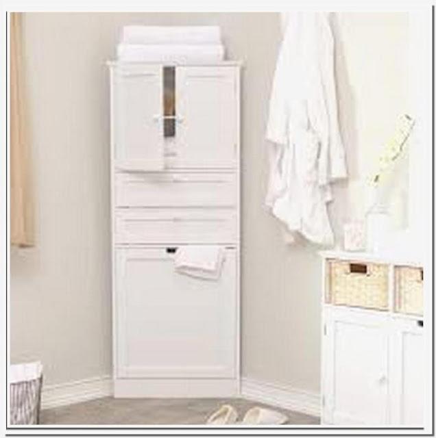 corner bathroom linen storage floor cabinet