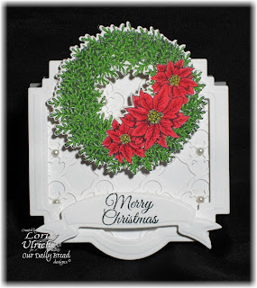 Stamps - Our Daily Bread Designs Poinsettia Wreath, ODBD Custom Poinsettia Wreath Dies, ODBD Custom Quatrefoil Pattern Die