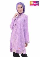 KUDO Tunik Nibras Hijab Muslim Ungu ANDHIMIND