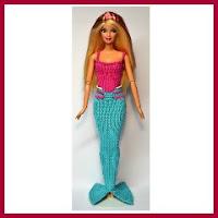 Barbie sirena amigurumi