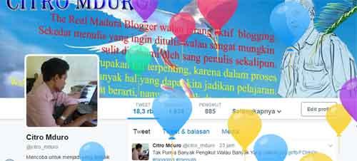 Balon di Akun Twitter