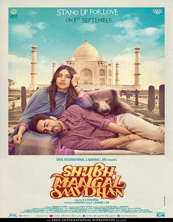 Shubh Mangal Saavdhan 2017 Hindi 150MB HDRip HEVC Mobile ESubs