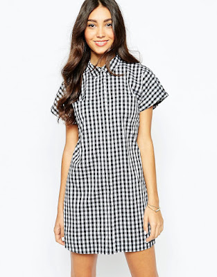 Gingham shirt dress, $32.35 from Oasis