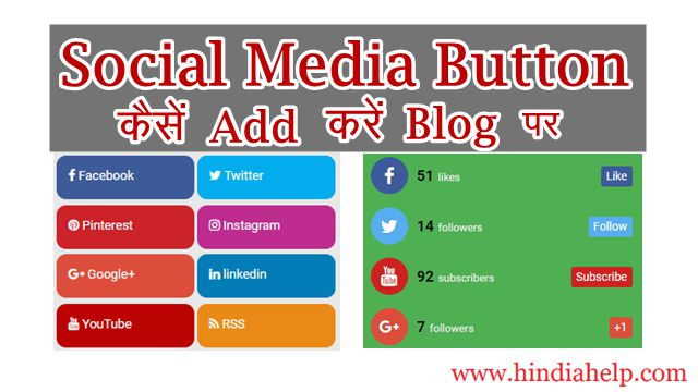 Blogger Blog me Social media Button kaise add kare