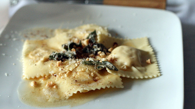 Eating Fabulously, Christopher Stewart, Butternut Squash Ravioli recipe