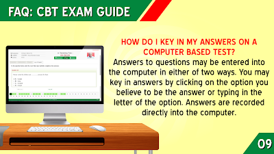 HOW DO I KEY IN MY ANSWERS ON A COMPUTER BASED TEST?