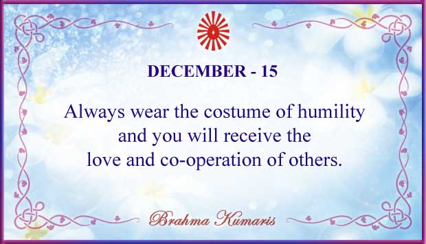 Thought For The Day December 15