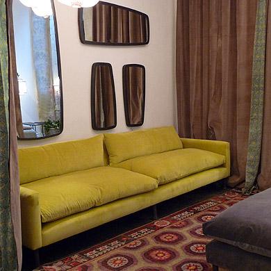la mouche 3 fois rien canap s jaune moutarde. Black Bedroom Furniture Sets. Home Design Ideas