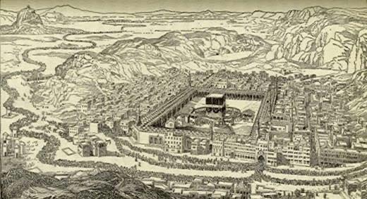 Image result for gambar kota mekah pada zaman dahulu