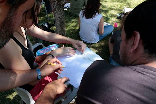 curso de ilustración científica y pintura naturalista en Sierra de Andújar, Diego Ortega Alonso