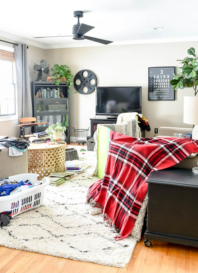 Messy home tour-living room