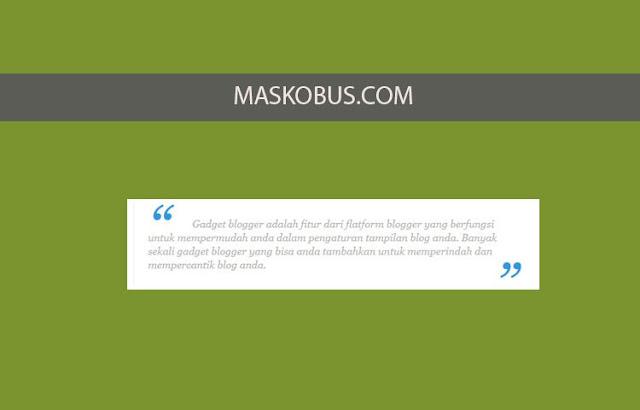 Blockquote Cantik di Blogger dengan CSS