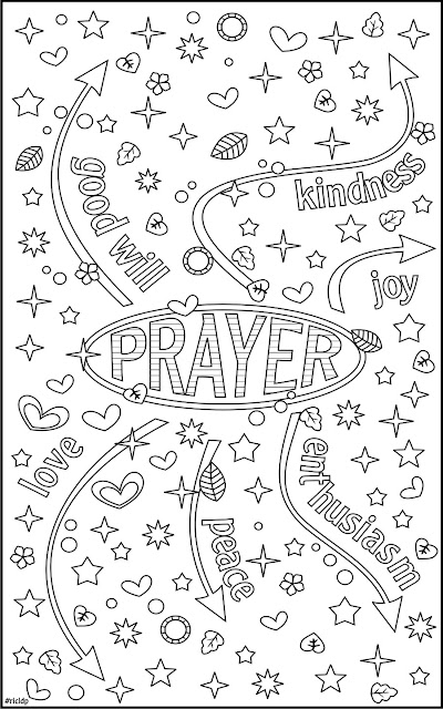 prayer vibration coloring page