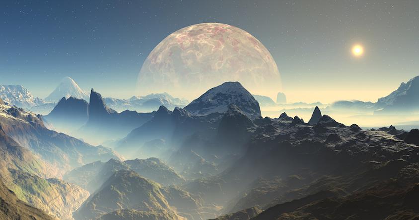 Representación artística de un exoplaneta.