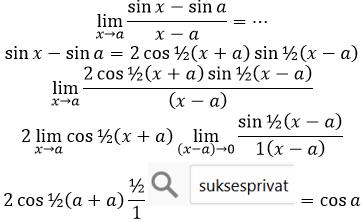soal limit sin x