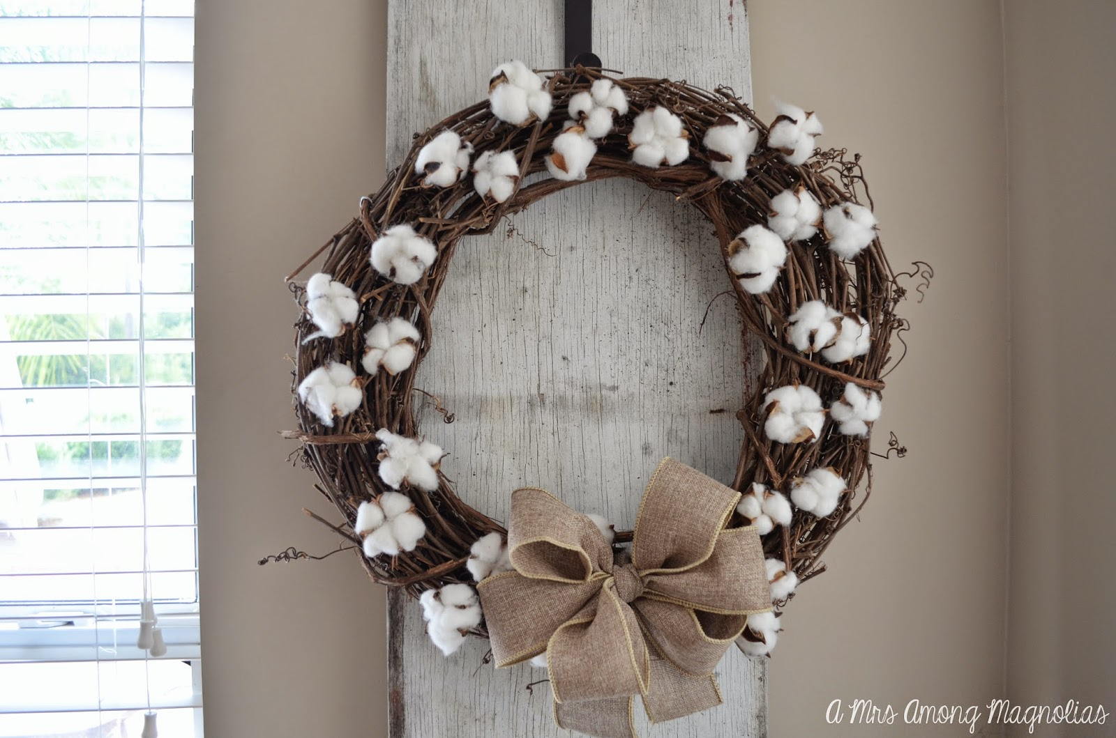 At The End You Will Have One Beautiful Cotton Wreath Perfect For Transition From Summer To Fall