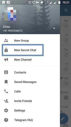 New secret chat